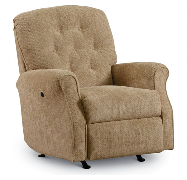 Priscilla Tan Fabric Button Tufted Padded Arm Rocker Recliner LNF-11956-1140-16