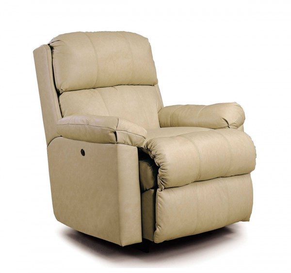 Timeless Ivory Leather Vinyl Match Pillow Top Arm Rocker Recliner LNF-1740-10-5110-15