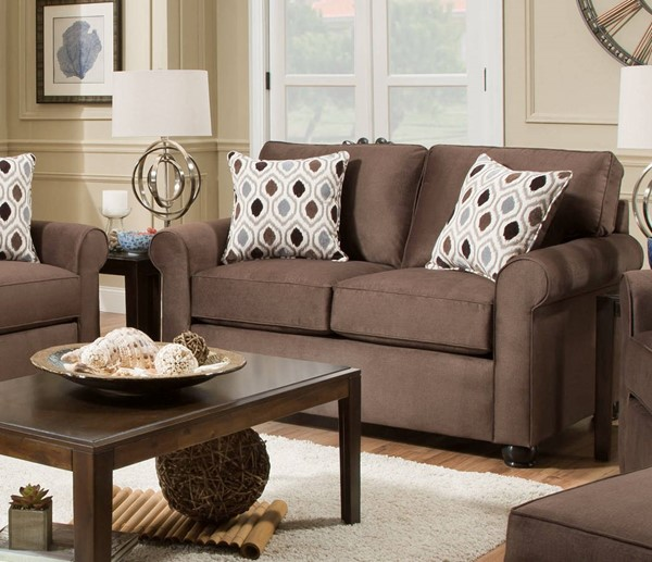Lane Furniture Jojo Chocolate Loveseat UNI-1530-02-JoJo-Chocolate