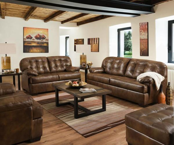 Lane Furniture Soft Touch Chaps Leather 3pc Living Room