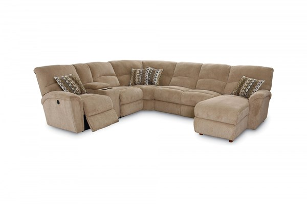 Grand Torino Big Time Tan Fabric Sectional LNF-230-4169-16-1207-17-LR-SEC2