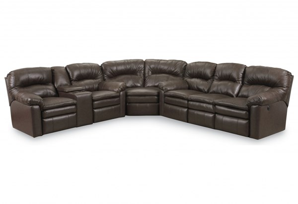 Touchdown Transitional Black Leather Sectional LNF-292-5101-20-LR-SEC