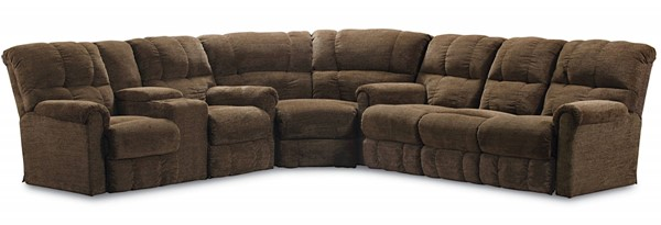 Griffin Traditional Walnut Fabric Sectional LNF-327-4148-21-LR-SEC1