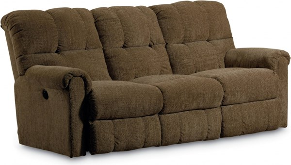 Griffin Traditional Walnut Fabric Power Double Reclining Sofa LNF-327-59-4148-21