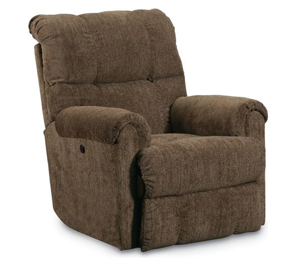Griffin Traditional Walnut Fabric Power Rocker Recliner LNF-327-98P-4148-21