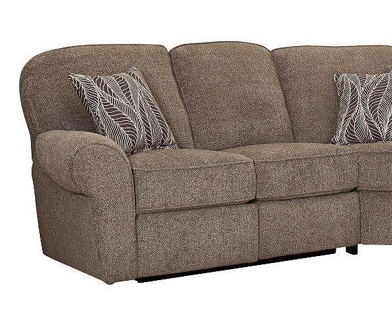 Megan Contemporary Logan Stone Fabric LAF Loveseat w/Recliner LNF-343-21-2015-83-2021-87