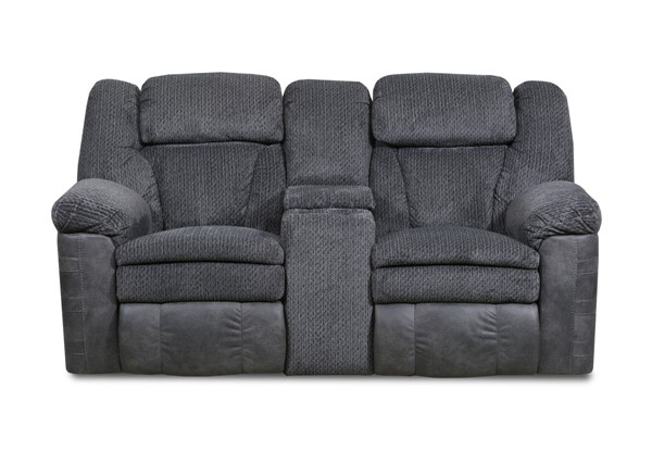 Lane Furniture Werebear Charcoal Reclining Loveseat with Console LNF-57008-63-Werebear-Charcoal