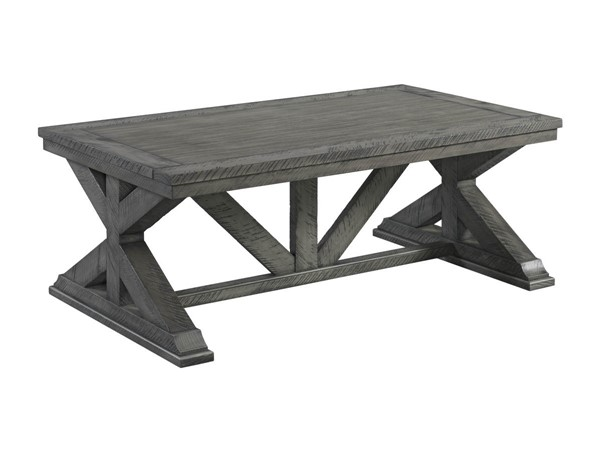 Lane Furniture Old Forge Grey Trestle Cocktail Table LNF-7062-45