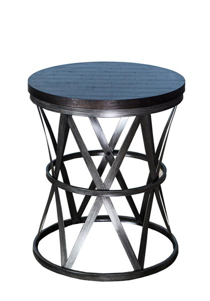 Lane Furniture Tobacco Metal Round Barrel Table LNF-7327-40