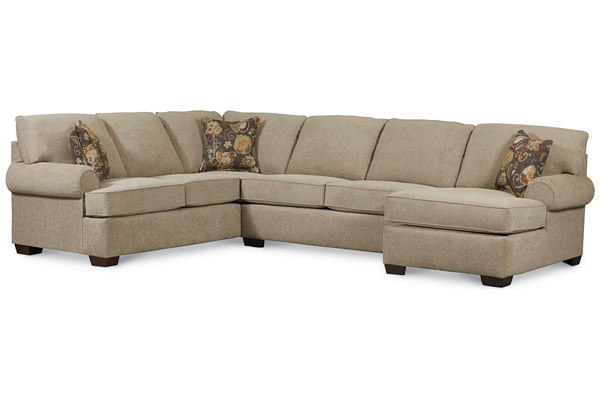 Vivian Transitional Tan Fabric Sectional w/RAF Arm Chaise LNF-738-4306-17-1319-42-SEC2