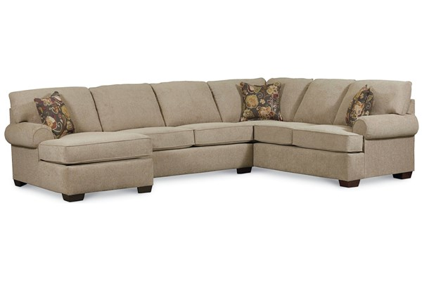 Vivian Transitional Tan Fabric Sectional w/LAF Arm Chaise LNF-738-4306-17-1319-42-SEC1