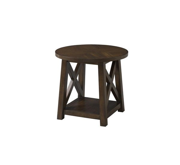 Lane Furniture Brown Cherry Round End Table LNF-7588-47