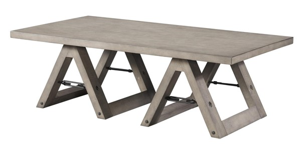 Lane Furniture Weather Grey Sawhorse Cocktail Table LNF-7592-45