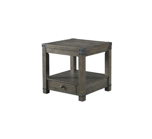 Lane Furniture Greige Wood Square End Table LNF-7593-47