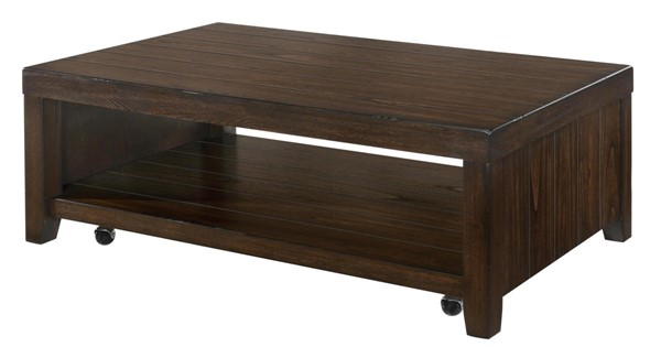 Lane Furniture Walnut Wood Rectangle Cocktail Table LNF-7594-45