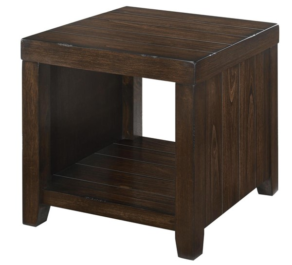 Lane Furniture Walnut Wood Square End Table LNF-7594-47