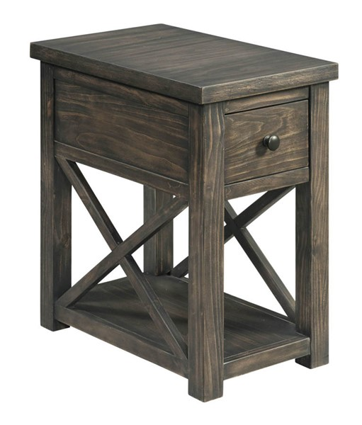 Lane Furniture Weathered Brown Chair Side Table LNF-7607-41