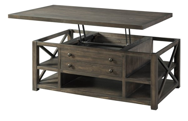Lane Furniture Weathered Brown Lift Top Cocktail Table LNF-7607-45