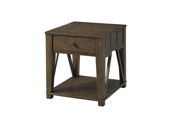Lane Furniture Coffee Bean Wood End Table LNF-7608-47