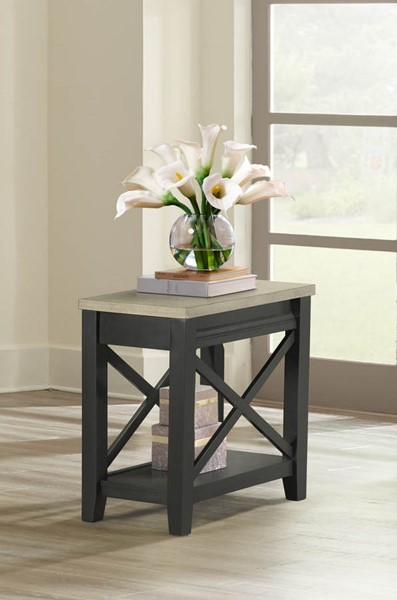 Lane Furniture Grey Black Chair Side Table LNF-7610-41