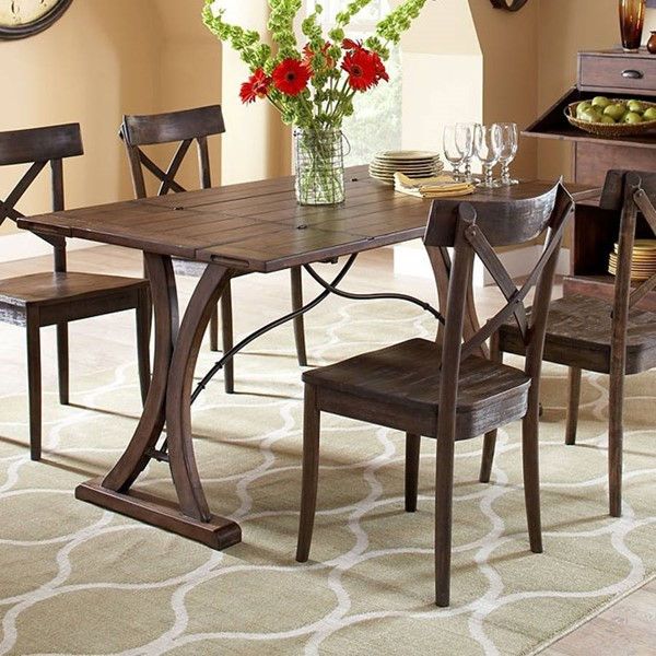Largo New Bedford Brown Folding Top Table LRG-D682-33