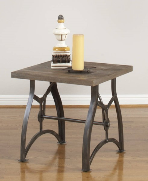 Largo Sonora Weathered Bronze Square End Table LRG-T175-125