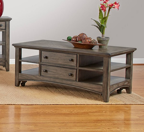 Largo Kensworth Gray Rectangular Cocktail Table LRG-T186-100