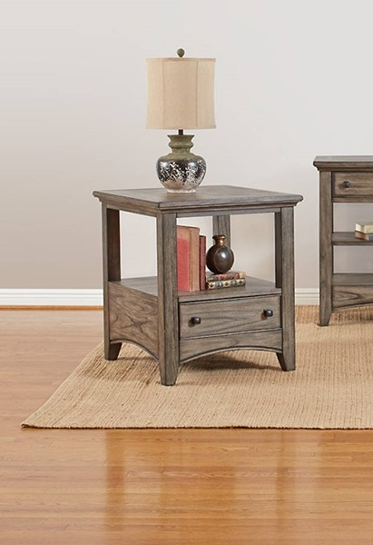 Largo Kensworth Gray Square End Table LRG-T186-125