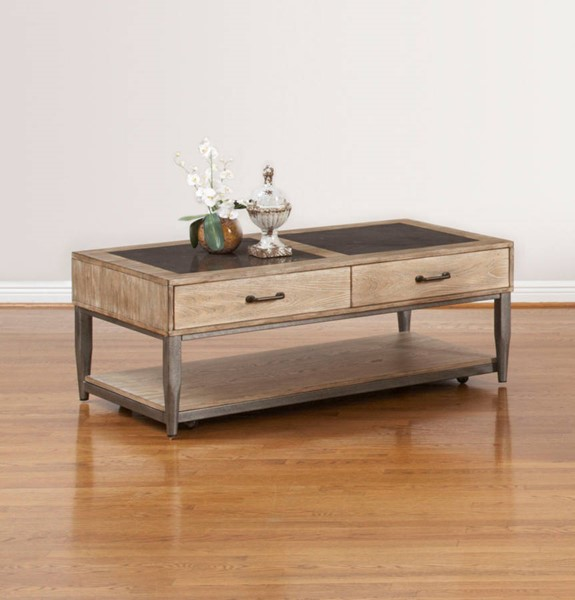 Largo River Loft Oak Gray Cocktail Table LRG-T312-100
