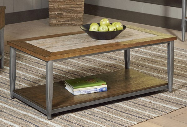 Largo Rockport Brushed Oak Gray Cocktail Table LRG-T706-100
