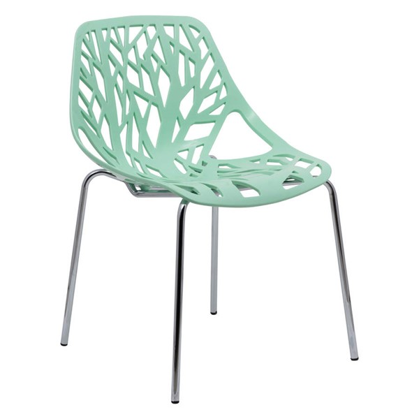 Design Edge Coledale  Mint Dining Chair with Chromed Legs DE-22365922