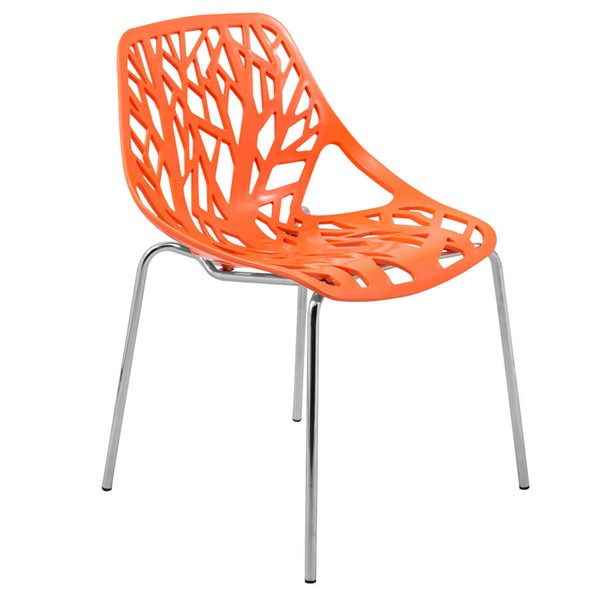 Design Edge Coledale  Orange Dining Chair with Chromed Legs DE-22365902