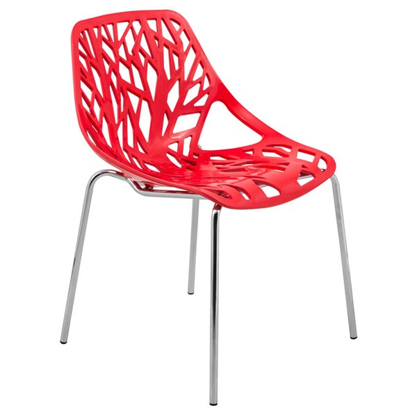 Design Edge Coledale  Red Dining Chair with Chromed Legs DE-22365892