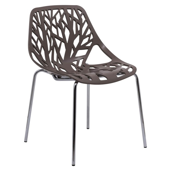 Design Edge Coledale  Taupe Dining Chair with Chromed Legs DE-22365932