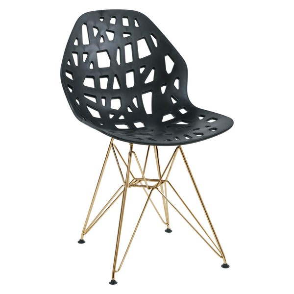 Design Edge Buronga  Gold Legs Side Chairs DE-22818644