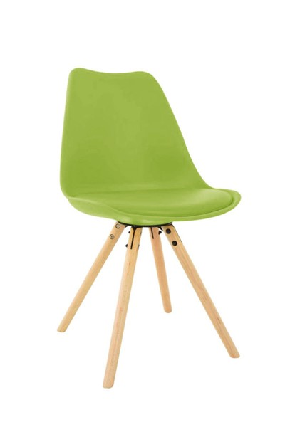 Design Edge Captains Flat  Green Cushioned Seat and Wooden Legs Side Chair DE-22994408