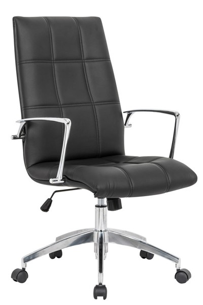 Design Edge Cooma  Black Leather Office Chair DE-22994803