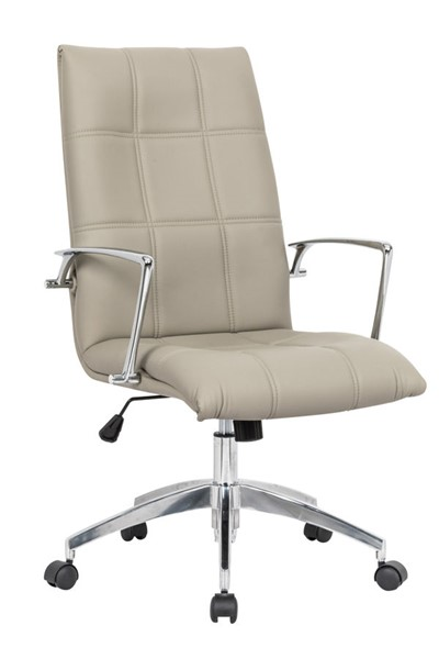 LeisureMod Benmar Home Tan Leather Office Chair LSM-BO19TL