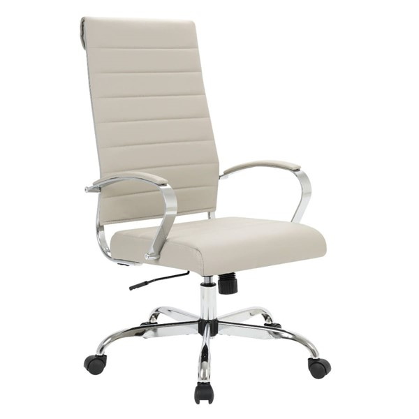 LeisureMod Benmar Home Tan Leather High Back Office Chair LSM-BOT19TL