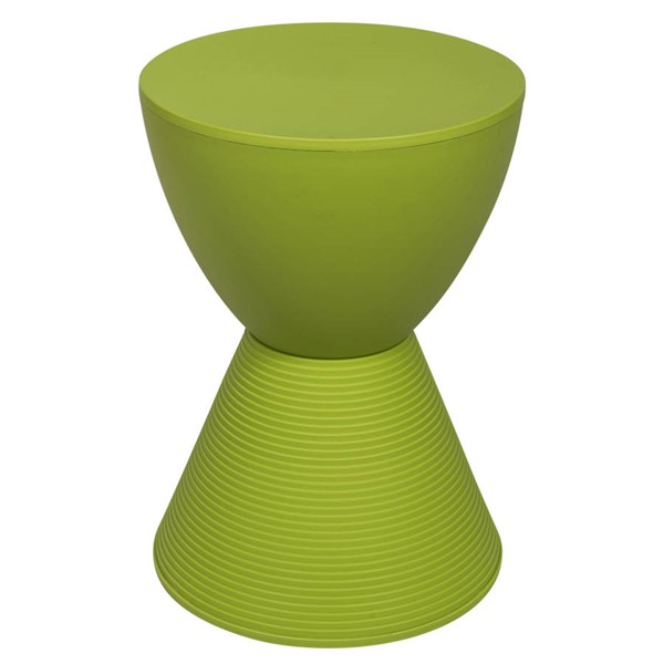 LeisureMod Boyd Green Polypropylene Side Table LSM-BS12G