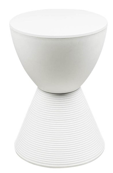 Design Edge Coonamble  White Polypropylene Side Table DE-22366768