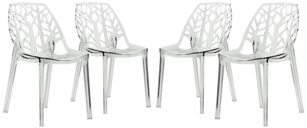 Design Edge Dapto 4  Clear Dining Chairs DE-22367321