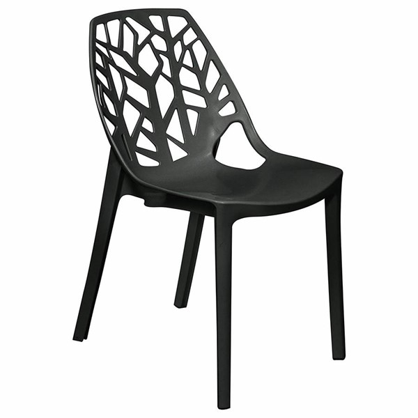 Design Edge Dapto  Black Plastic Dining Chair DE-22819261