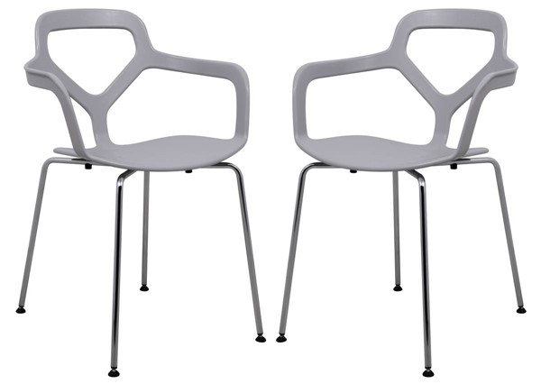 Design Edge Cooranbong  Chrome Legs 2 Arm Chairs DE-22366845