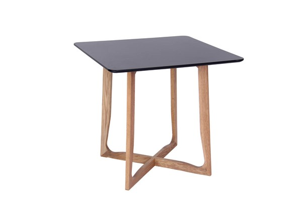 Design Edge Cowra  Black Square Bistro Dining Table DE-22819205