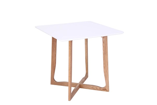 Design Edge Cowra  White Square Bistro Dining Table DE-22819215