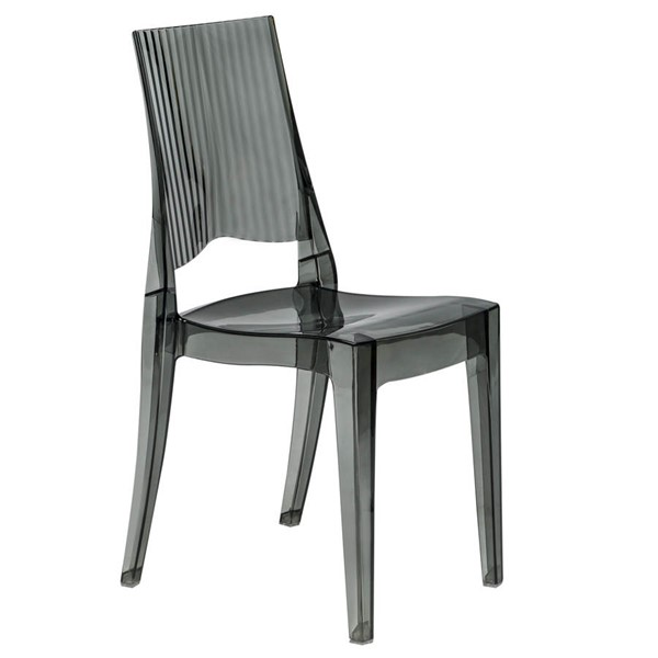 Design Edge Cumnock  Black Transparent Dining Chair DE-22367168