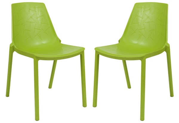 Design Edge Crookwell 2  Green Dining Chairs DE-22367091