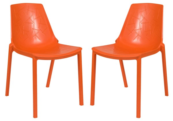 Design Edge Crookwell 2  Orange Dining Chairs DE-22367081