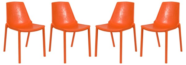 Design Edge Crookwell 4  Orange Dining Chairs DE-22367121
